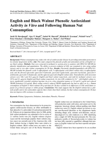 English and Black Walnut Phenolic Antioxidant Activity in Vitro and