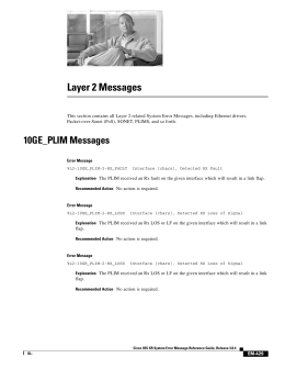 Layer 2 Messages
