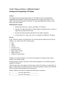 Grade 3 Shape and Space: Additional Sample 1 Sorting and
