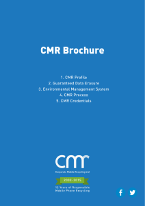 CMR Brochure - Corporate Mobile Recycling
