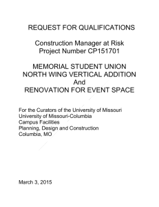 Standard CMR RFQ - Campus Facilities | University of Missouri