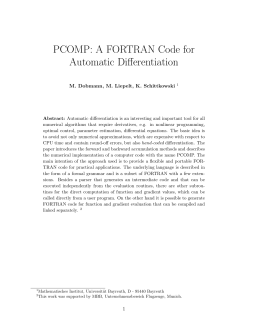 PCOMP: A FORTRAN Code for Automatic Differentiation