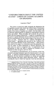 """uniform throughout the united states"": limits on taxing as"