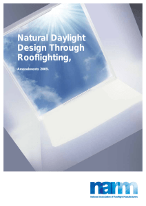 NARM: Natural Daylight Design Through Rooflighting