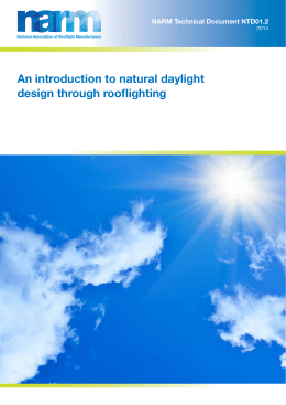 An introduction to natural daylight design through
