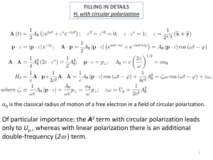 Of particular importance: the A2 term with circular polarization leads