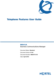Telephone Features User Guide