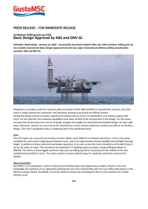 Basic Design Approval by ABS and DNV GL