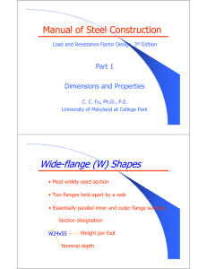 h Wide-flange (W) Shapes flange (W) Shapes