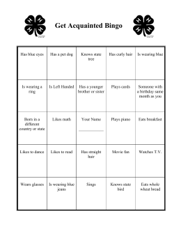 Get Acquainted Bingo