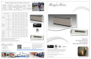Magic Aire UV Brochure - Victor Distributing Controls Department