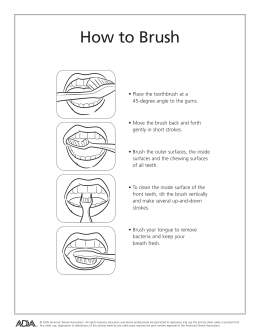 How to Brush - American Dental Association