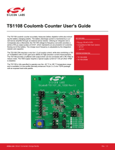 TS1108 Coulomb Counter User`s Guide