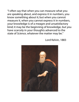 Lord Kelvin quote on measurement