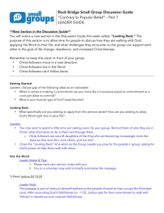 "Rock Bridge Small Group Discussion Guide ""Contrary to Popular"