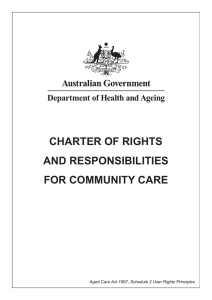 charter of rights and responsibilities for community care