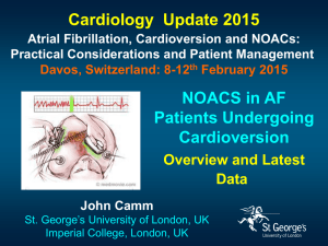 NOACs in AF patients undergoing cardioversion