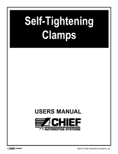 self tightening clamps - Chief Automotive Technologies