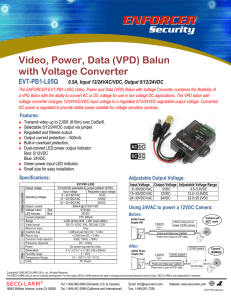 video, power, data (vpd) balun with voltage - seco-larm
