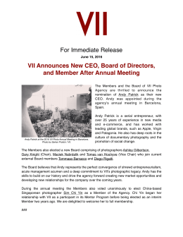For Immediate Release VII Announces New CEO, Board of Directors