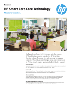 Data sheet | HP Smart Zero Core Technology