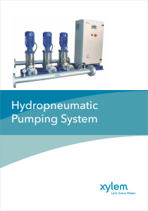 hydropneumatic pumping system