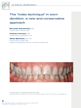 "The ""index technique"" in worn dentition: a new and conservative"