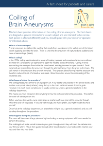 Coiling Of Brain Aneurysms