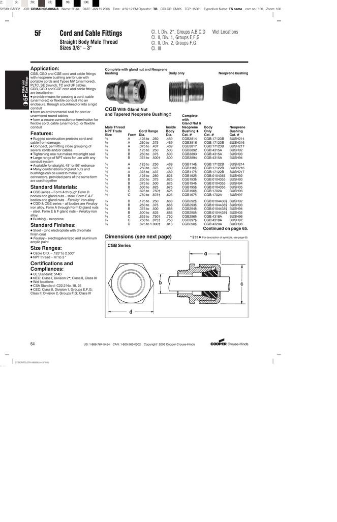 Cgb192-sa Flexible Cable Conector