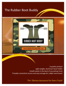 The Rubber Boot Buddy