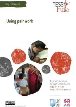 Using pair work - The Open University