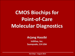 CMOS Biochips for Point-of-Care Molecular Diagnostics
