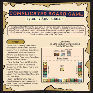 1 SETUP - Complicated Board Game the Card Game