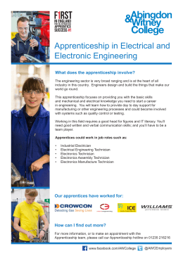 Apprenticeship in Electrical and Electronic Engineering