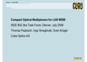 Compact Optical Multiplexers for LAN WDM