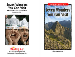 Seven Wonders You Can Visit Seven Wonders You Can Visit