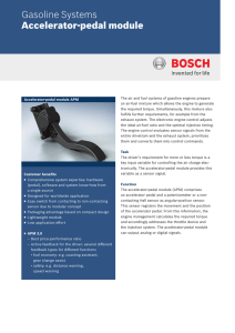 Accelerator-pedal module - Bosch Mobility Solutions