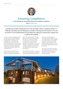 Ensuring compliance - University of Surrey