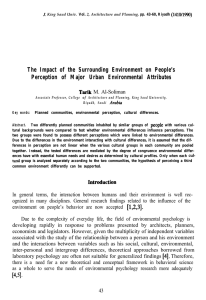 The Impact of the Surrounding Environment on People`s Perception