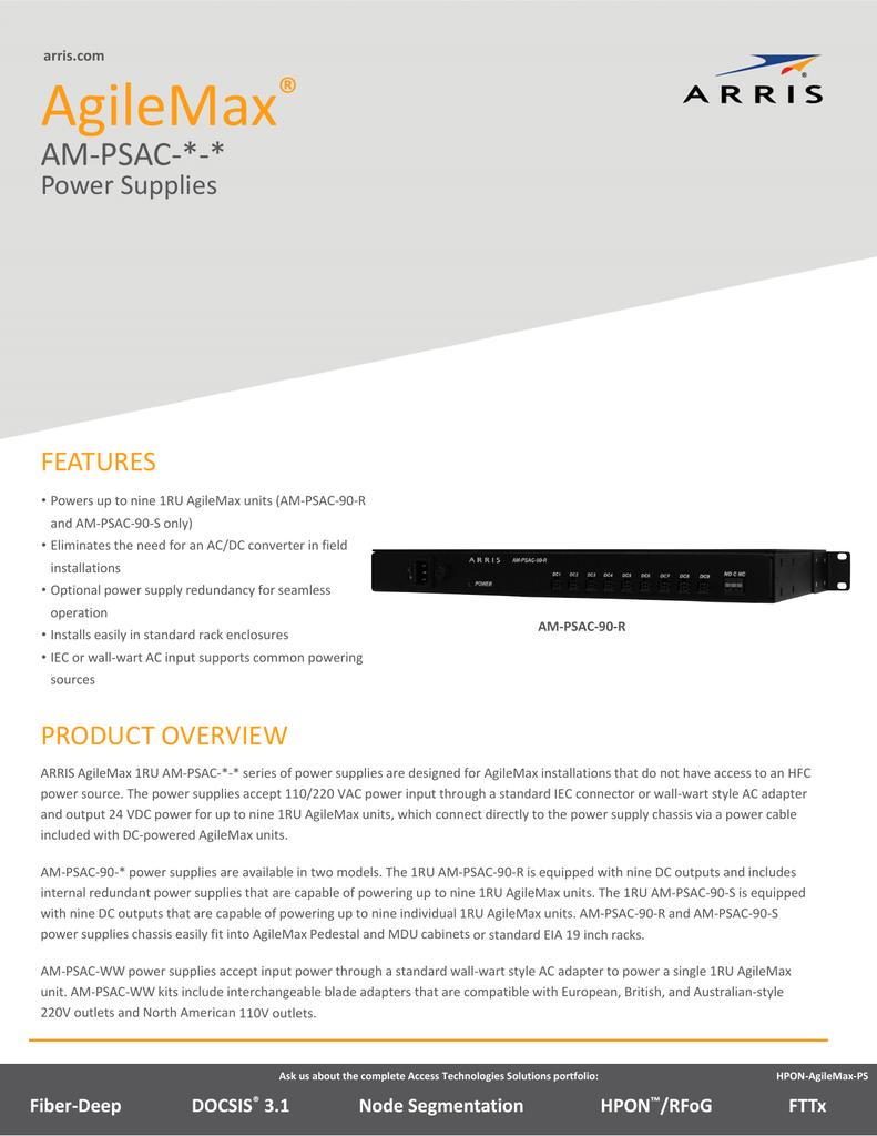 Data Sheet AgileMax PSAC Power Supply Data Sheet