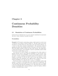 2. Continuous Probability Densities