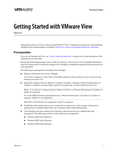 Getting Started with VMware View