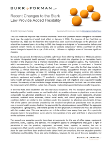 Recent Changes to the Stark Law Provide Added Flexibility