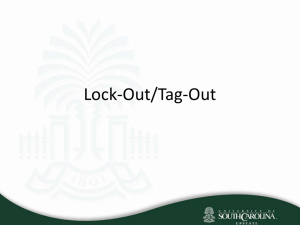 Lock-Out/Tag-Out - University of South Carolina Upstate