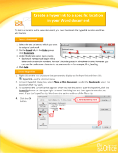Create a hyperlink to a specific location in your Word document