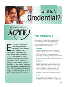 What Is A Credential?