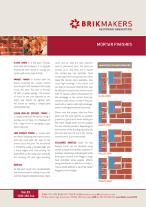 mortar finishes