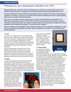 5 Reasons to use a temperature controller over a PLC