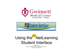 Using the NetLearning Student Interface
