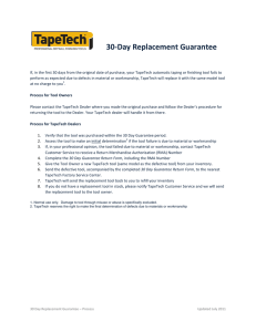 30-Day Replacement Guarantee